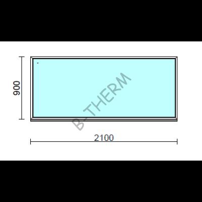 Fix ablak.  210x 90 cm (Rendelhető méretek: szélesség 205-214 cm, magasság 85-94 cm.)  New Balance 85 profilból