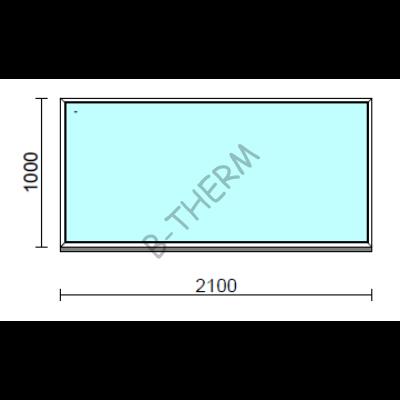 Fix ablak.  210x100 cm (Rendelhető méretek: szélesség 205-214 cm, magasság 95-104 cm.)  New Balance 85 profilból