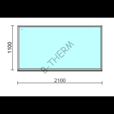 Fix ablak.  210x110 cm (Rendelhető méretek: szélesség 205-214 cm, magasság 105-114 cm.)  New Balance 85 profilból