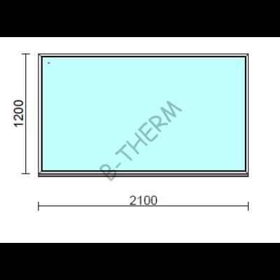 Fix ablak.  210x120 cm (Rendelhető méretek: szélesség 205-214 cm, magasság 115-124 cm.)  New Balance 85 profilból