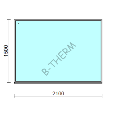 Fix ablak.  210x150 cm (Rendelhető méretek: szélesség 205-214 cm, magasság 145-154 cm.)  New Balance 85 profilból