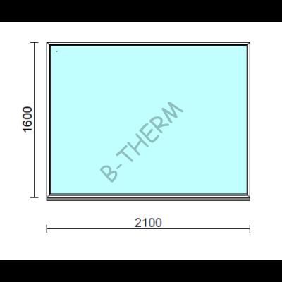 Fix ablak.  210x160 cm (Rendelhető méretek: szélesség 205-214 cm, magasság 155-164 cm.)  New Balance 85 profilból