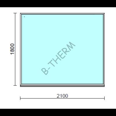 Fix ablak.  210x180 cm (Rendelhető méretek: szélesség 205-214 cm, magasság 175-184 cm.)  New Balance 85 profilból
