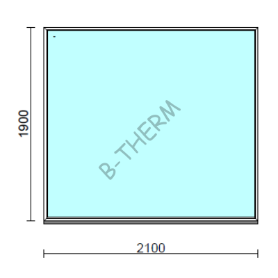 Fix ablak.  210x190 cm (Rendelhető méretek: szélesség 205-214 cm, magasság 185-194 cm.)  New Balance 85 profilból