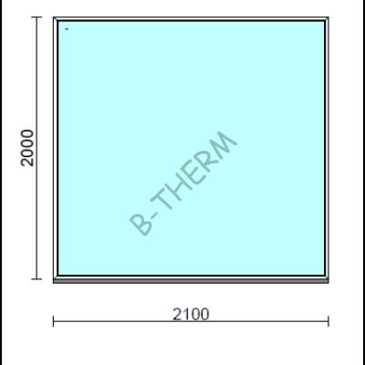 Fix ablak.  210x200 cm (Rendelhető méretek: szélesség 205-214 cm, magasság 195-204 cm.)  New Balance 85 profilból