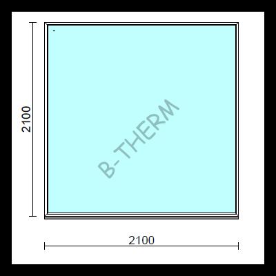 Fix ablak.  210x210 cm (Rendelhető méretek: szélesség 205-214 cm, magasság 205-214 cm.)  New Balance 85 profilból