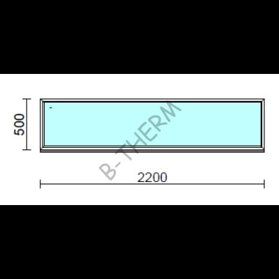 Fix ablak.  220x 50 cm (Rendelhető méretek: szélesség 215-224 cm, magasság 50-54 cm.)  New Balance 85 profilból