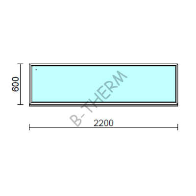 Fix ablak.  220x 60 cm (Rendelhető méretek: szélesség 215-224 cm, magasság 55-64 cm.)  New Balance 85 profilból