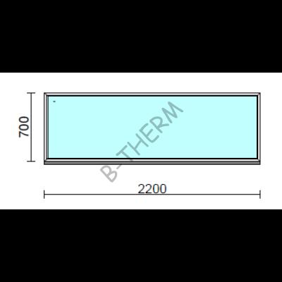 Fix ablak.  220x 70 cm (Rendelhető méretek: szélesség 215-224 cm, magasság 65-74 cm.)  New Balance 85 profilból