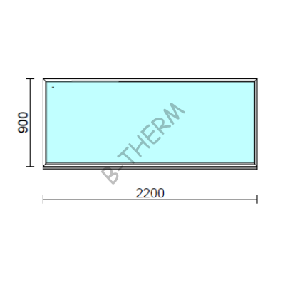 Fix ablak.  220x 90 cm (Rendelhető méretek: szélesség 215-224 cm, magasság 85-94 cm.)  New Balance 85 profilból
