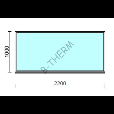 Fix ablak.  220x100 cm (Rendelhető méretek: szélesség 215-224 cm, magasság 95-104 cm.)  New Balance 85 profilból