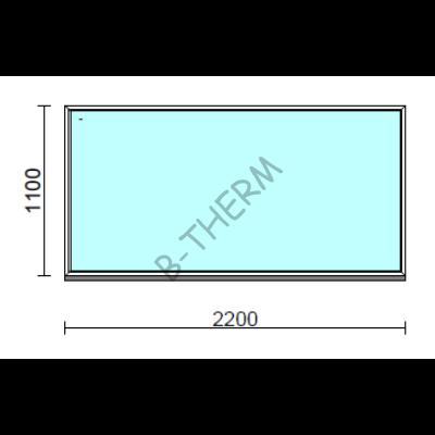 Fix ablak.  220x110 cm (Rendelhető méretek: szélesség 215-224 cm, magasság 105-114 cm.)  New Balance 85 profilból