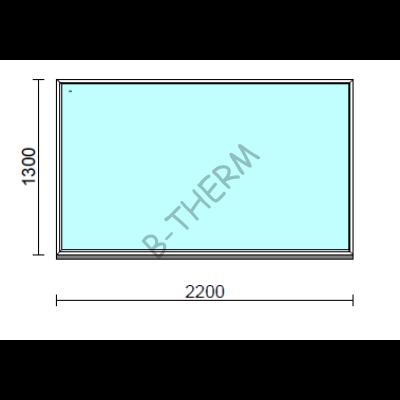 Fix ablak.  220x130 cm (Rendelhető méretek: szélesség 215-224 cm, magasság 125-134 cm.)  New Balance 85 profilból