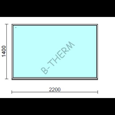 Fix ablak.  220x140 cm (Rendelhető méretek: szélesség 215-224 cm, magasság 135-144 cm.)  New Balance 85 profilból