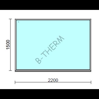 Fix ablak.  220x150 cm (Rendelhető méretek: szélesség 215-224 cm, magasság 145-154 cm.)  New Balance 85 profilból