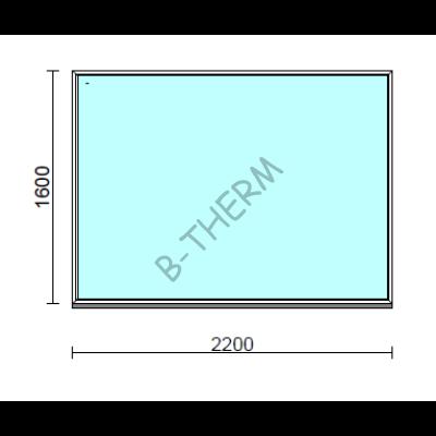Fix ablak.  220x160 cm (Rendelhető méretek: szélesség 215-224 cm, magasság 155-164 cm.)  New Balance 85 profilból