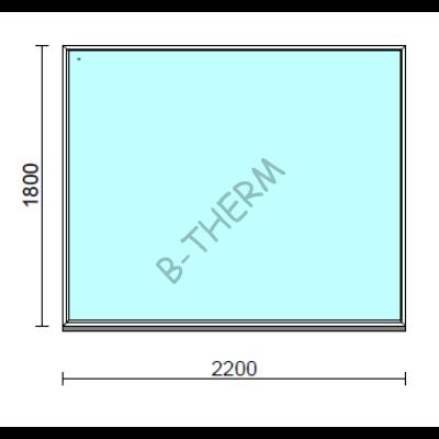 Fix ablak.  220x180 cm (Rendelhető méretek: szélesség 215-224 cm, magasság 175-184 cm.)  New Balance 85 profilból