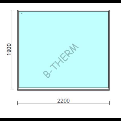 Fix ablak.  220x190 cm (Rendelhető méretek: szélesség 215-224 cm, magasság 185-194 cm.)  New Balance 85 profilból