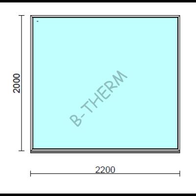 Fix ablak.  220x200 cm (Rendelhető méretek: szélesség 215-224 cm, magasság 195-204 cm.)  New Balance 85 profilból