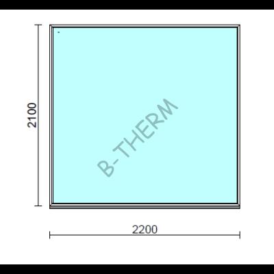 Fix ablak.  220x210 cm (Rendelhető méretek: szélesség 215-220 cm, magasság 205-210 cm.)  New Balance 85 profilból