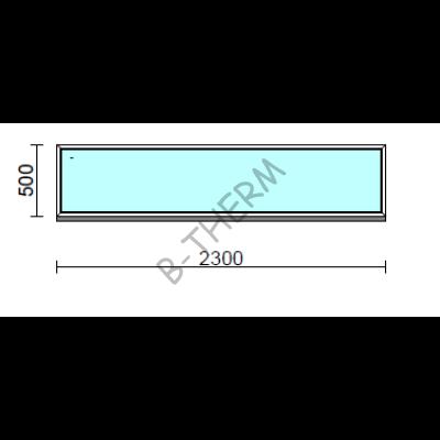 Fix ablak.  230x 50 cm (Rendelhető méretek: szélesség 225-234 cm, magasság 50-54 cm.)  New Balance 85 profilból
