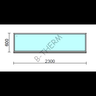 Fix ablak.  230x 60 cm (Rendelhető méretek: szélesség 225-234 cm, magasság 55-64 cm.)  New Balance 85 profilból