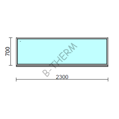 Fix ablak.  230x 70 cm (Rendelhető méretek: szélesség 225-234 cm, magasság 65-74 cm.)  New Balance 85 profilból
