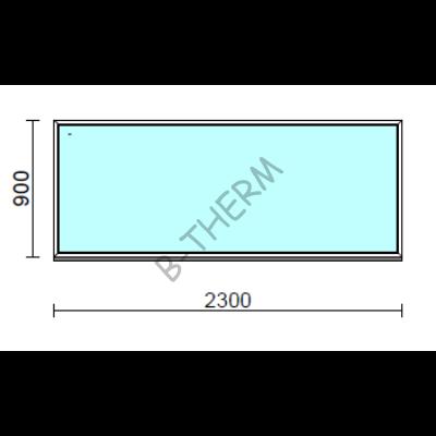Fix ablak.  230x 90 cm (Rendelhető méretek: szélesség 225-234 cm, magasság 85-94 cm.)  New Balance 85 profilból