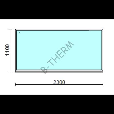 Fix ablak.  230x110 cm (Rendelhető méretek: szélesség 225-234 cm, magasság 105-114 cm.)  New Balance 85 profilból
