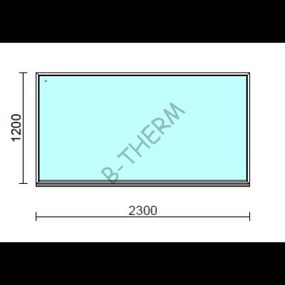 Fix ablak.  230x120 cm (Rendelhető méretek: szélesség 225-234 cm, magasság 115-124 cm.)  New Balance 85 profilból