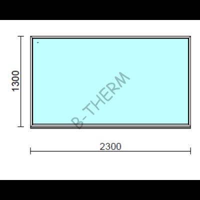Fix ablak.  230x130 cm (Rendelhető méretek: szélesség 225-234 cm, magasság 125-134 cm.)  New Balance 85 profilból