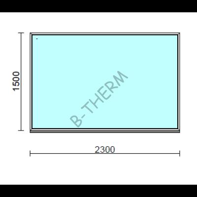 Fix ablak.  230x150 cm (Rendelhető méretek: szélesség 225-234 cm, magasság 145-154 cm.)  New Balance 85 profilból