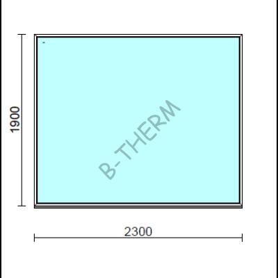 Fix ablak.  230x190 cm (Rendelhető méretek: szélesség 225-230 cm, magasság 185-190 cm.)  New Balance 85 profilból