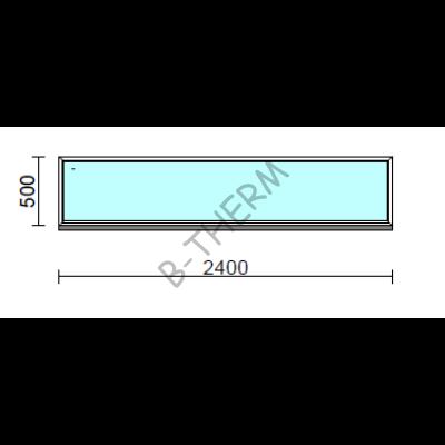 Fix ablak.  240x 50 cm (Rendelhető méretek: szélesség 235-240 cm, magasság 50-54 cm.)  New Balance 85 profilból