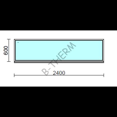 Fix ablak.  240x 60 cm (Rendelhető méretek: szélesség 235-240 cm, magasság 55-64 cm.)  New Balance 85 profilból