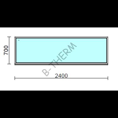 Fix ablak.  240x 70 cm (Rendelhető méretek: szélesség 235-240 cm, magasság 65-74 cm.)  New Balance 85 profilból
