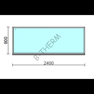 Fix ablak.  240x 90 cm (Rendelhető méretek: szélesség 235-240 cm, magasság 85-94 cm.)  New Balance 85 profilból