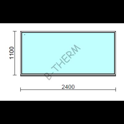 Fix ablak.  240x110 cm (Rendelhető méretek: szélesség 235-240 cm, magasság 105-114 cm.)  New Balance 85 profilból