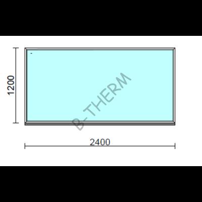Fix ablak.  240x120 cm (Rendelhető méretek: szélesség 235-240 cm, magasság 115-124 cm.)  New Balance 85 profilból