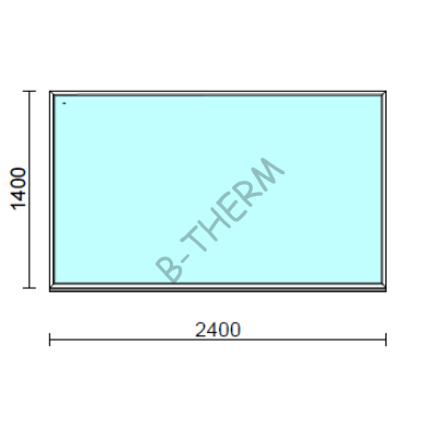 Fix ablak.  240x140 cm (Rendelhető méretek: szélesség 235-240 cm, magasság 135-144 cm.)  New Balance 85 profilból