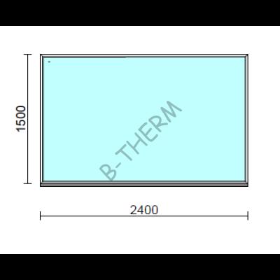 Fix ablak.  240x150 cm (Rendelhető méretek: szélesség 235-240 cm, magasság 145-154 cm.)  New Balance 85 profilból