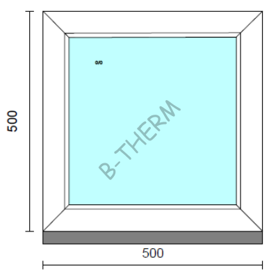 Fix ablak.   50x 50 cm (Rendelhető méretek: szélesség 50-54 cm, magasság 50-54 cm.)  New Balance 85 profilból
