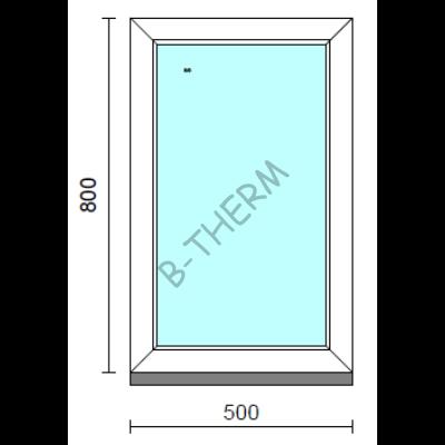 Fix ablak.   50x 80 cm (Rendelhető méretek: szélesség 50-54 cm, magasság 75-84 cm.)   Optima 76 profilból