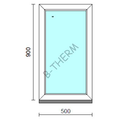 Fix ablak.   50x 90 cm (Rendelhető méretek: szélesség 50-54 cm, magasság 85-94 cm.)  New Balance 85 profilból