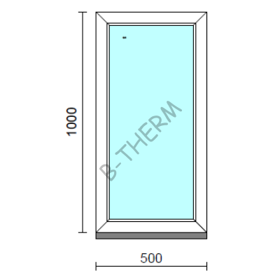 Fix ablak.   50x100 cm (Rendelhető méretek: szélesség 50-54 cm, magasság 95-104 cm.)  New Balance 85 profilból