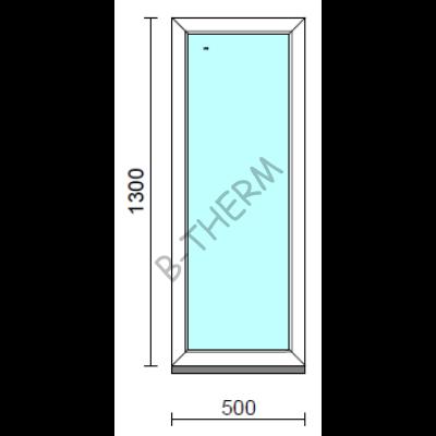 Fix ablak.   50x130 cm (Rendelhető méretek: szélesség 50-54 cm, magasság 125-134 cm.)  New Balance 85 profilból