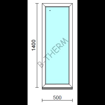 Fix ablak.   50x140 cm (Rendelhető méretek: szélesség 50-54 cm, magasság 135-144 cm.)   Optima 76 profilból