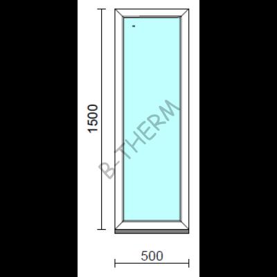 Fix ablak.   50x150 cm (Rendelhető méretek: szélesség 50-54 cm, magasság 145-154 cm.)   Optima 76 profilból