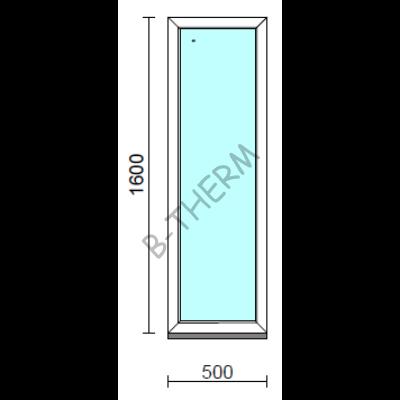 Fix ablak.   50x160 cm (Rendelhető méretek: szélesség 50-54 cm, magasság 155-164 cm.)   Optima 76 profilból