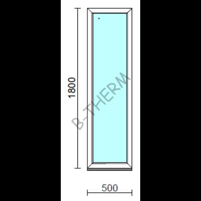 Fix ablak.   50x180 cm (Rendelhető méretek: szélesség 50-54 cm, magasság 175-184 cm.) Deluxe A85 profilból